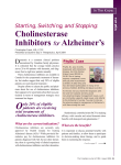 Cholinesterase Inhibitors for Alzheimer`s