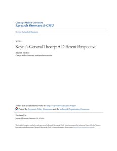 Keyne`s General Theory: A Different Perspective