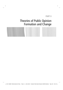 Theories of Public Opinion Formation and Change