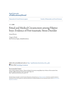 Ritual and Medical Circumcision among Filipino boys: Evidence of
