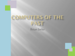 Computers of the Past and Future