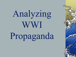 Analyzing WWI Propaganda