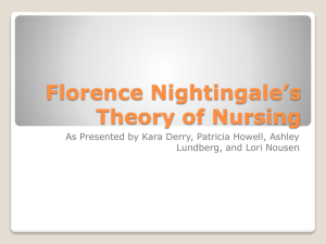 Florence Nightingale`s Theory of Nursing