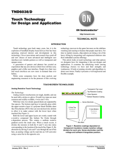 Touch Technology for Design and Application