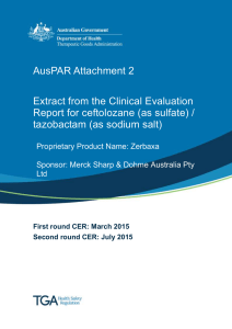 AusPAR Attachment 2: Extract from the Clinical Evaluation Report