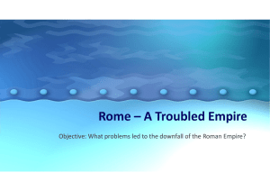 Rome – A Troubled Empire