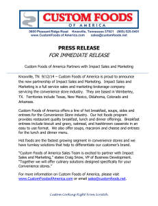 press release for immediate release