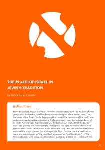 THE PLACE OF ISRAEL IN JEWISH TRADITION
