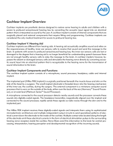 Cochlear Implant Overview