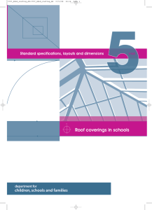 Roof coverings in schools - Department for Education
