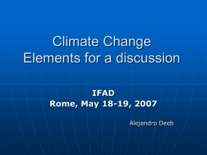 Climate Change Elements for a discussion