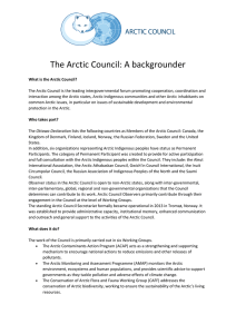 in PDF - Arctic Council