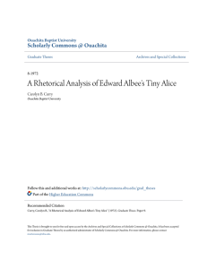 A Rhetorical Analysis of Edward Albee`s Tiny Alice