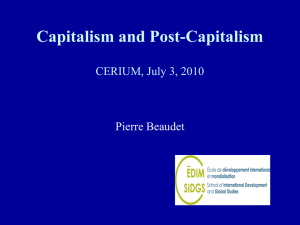 Capitalism and Post