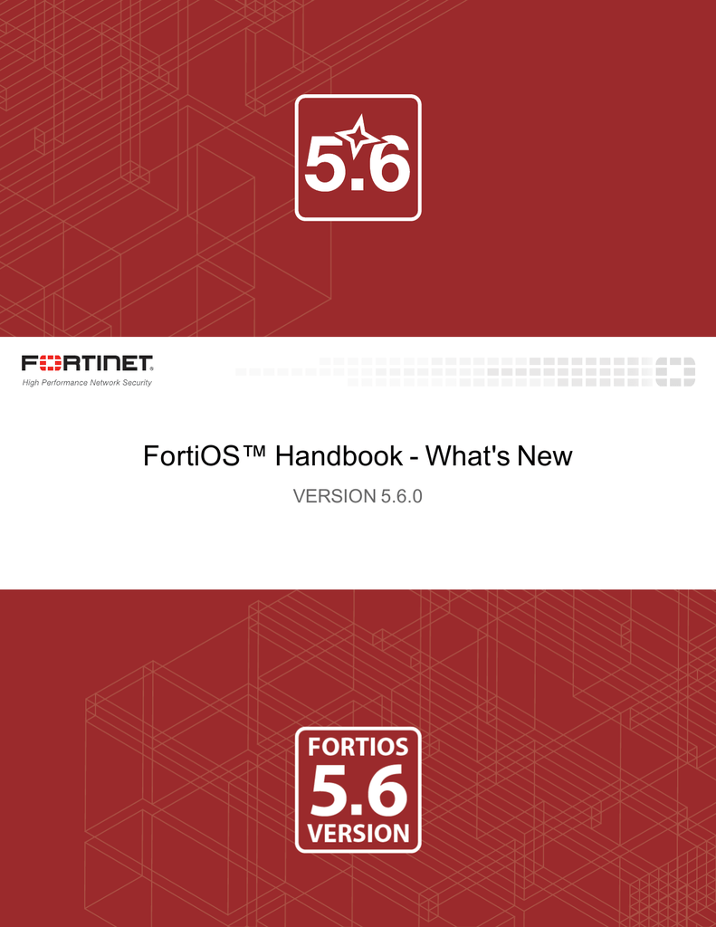 What`s New for FortiOS 5 6