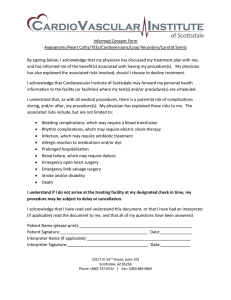 Consent Form - Cardiovascular Institute of Scottsdale