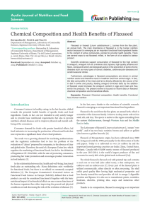 Chemical Composition and Health Benefits of Flaxseed