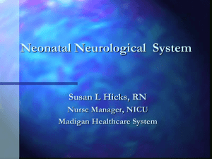 Neonatal Neurological and Neuromuscular System