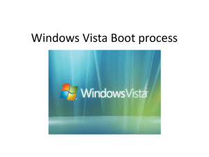 Windows Vista Boot process