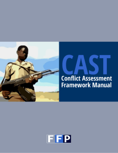 CFSIR1418 - CAST Conflict Assessment Manual 2014