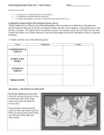 World Geography 3200 / 3202: Unit 1 – Plate Tectonics Name: In