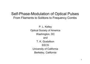 Self-Phase-Modulation of Optical Pulses