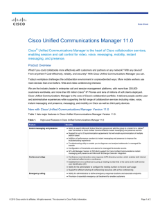 Cisco Unified Communications Manager 11.0