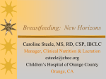 Breastfeeding: New Horizons - Montana State Breastfeeding Coalition