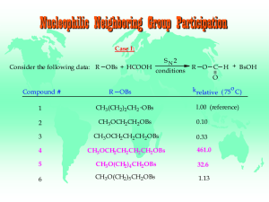 Nucleophilic Neighboring Group Participation Case I