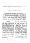 Abundances and isotopic compositions of rare gases in granites