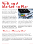 Writing A Marketing Plan - University of Maryland Extension