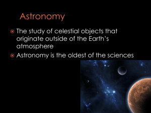 Astronomy - Earth Systems A