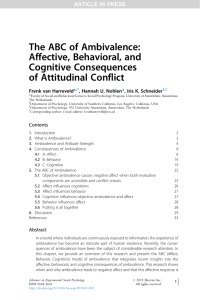 The ABC of Ambivalence: Affective, Behavioral