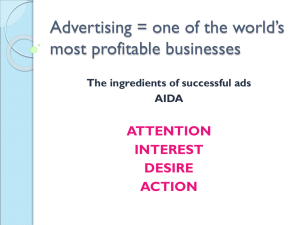 Advertising = one of the world`s most profitable
