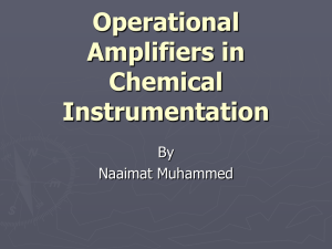 Operational Amplifiers in Chemical Instrumentation