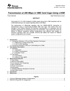 Transmission at 200 Mbps in VME Card Cage