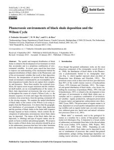 Phanerozoic environments of black shale deposition