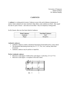 cadences - UT School of Music