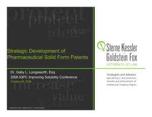 Strategic Development of Pharmaceutical Solid Form Patents