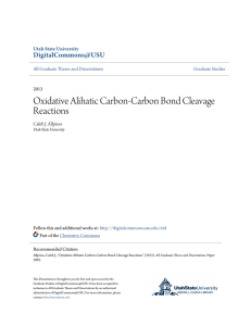 Oxidative Alihatic Carbon-Carbon Bond Cleavage Reactions