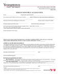 Public Access System Request Form