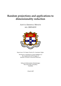 Random projections and applications to
