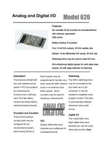 Analog and Digital I/O - CSL-EP