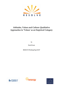 Attitudes, Values and Culture: Qualitative Approaches to