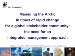 Managing the Arctic in times of rapid change for a