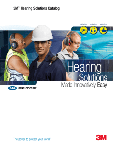 Hearing Protection Solutions Catalog