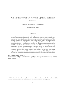 On the history of the Growth Optimal Portfolio