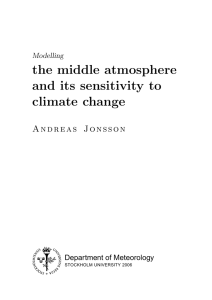 the middle atmosphere and its sensitivity to climate