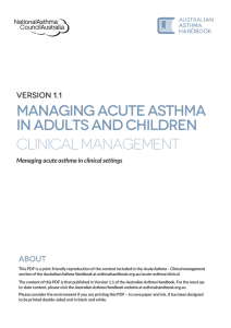 Managing acute asthma in clinical settings