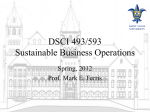 Lecture (Power Point) - Sustainable Business Operations DSCI 493